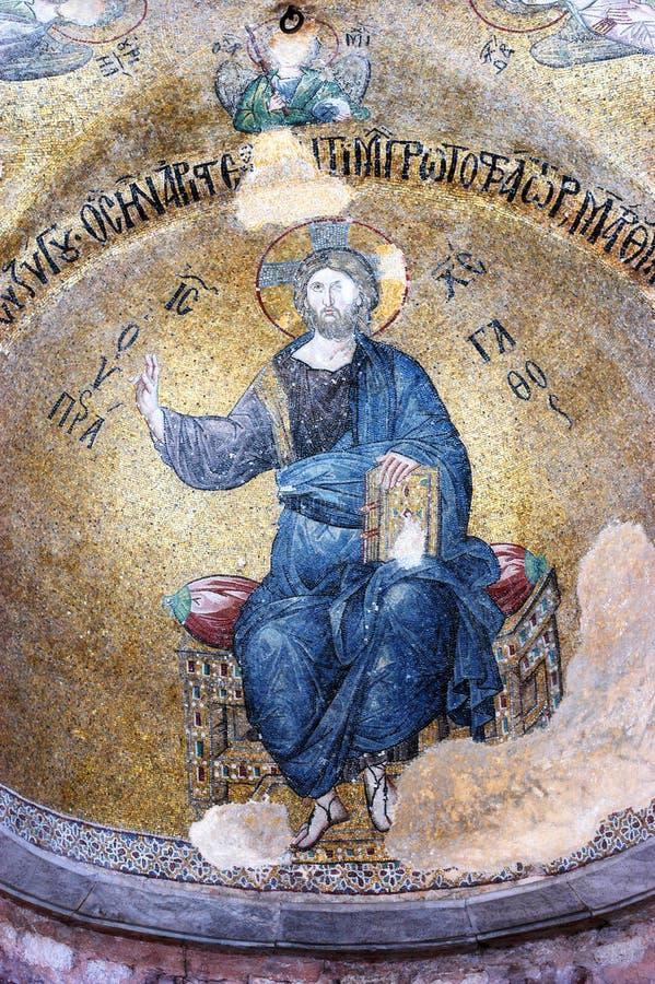 Mosaïque de Jésus-Christ, camii de Fethiye images libres de droits