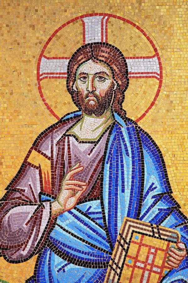 Mosaïque de Jesus Christ image libre de droits