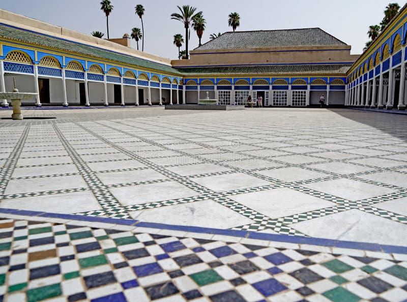 Mosaïque de l'EL Bahia Palace à Marrakech photographie stock libre de droits