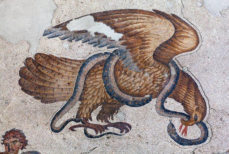 Mosaïque de la période bizantine dans la grande mosaïque Muse de palais image libre de droits