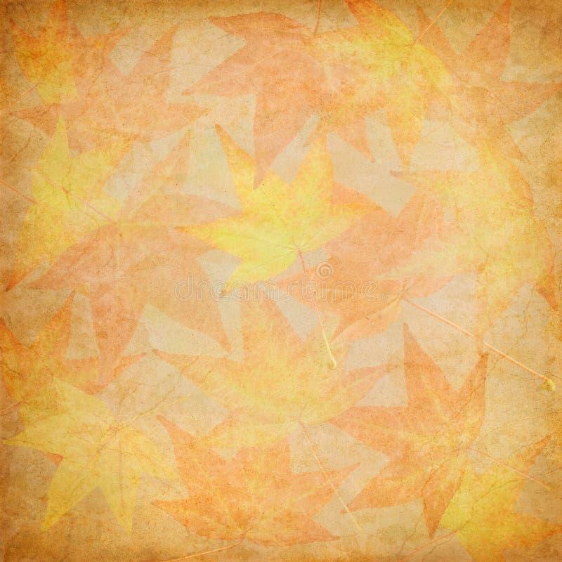 Mosaïque de lame d'automne illustration libre de droits