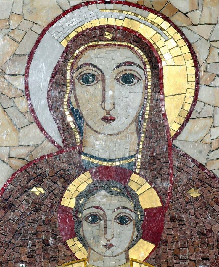 Mosaïque de Lourdes image libre de droits