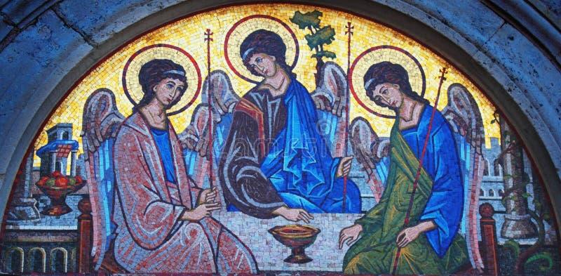 Mosaïque de trinité sainte photographie stock
