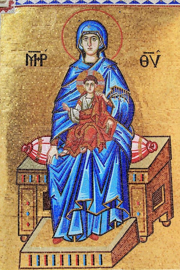 Mosaïque de Vierge Marie images libres de droits