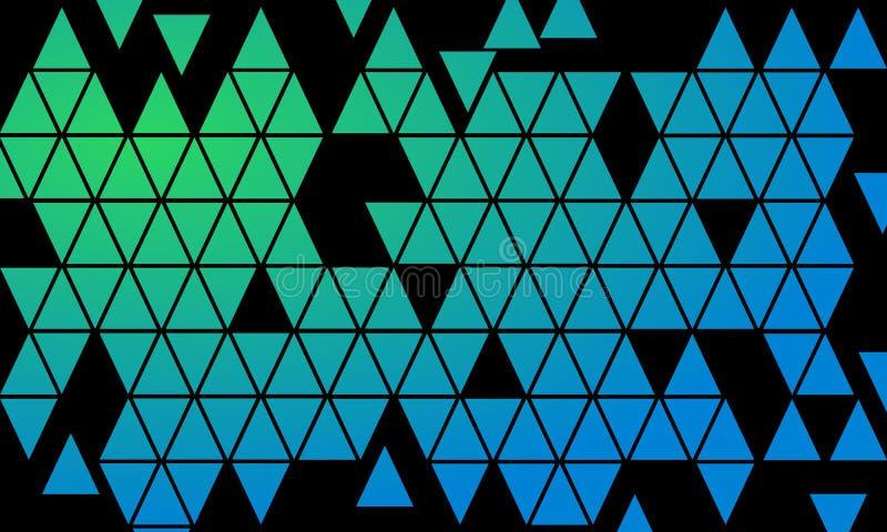 Mosaïque des formes colorées de triangle - illustration de papier peint illustration de vecteur