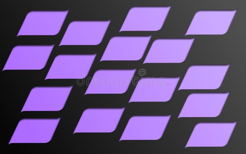Mosaïque des formes violettes arquées et incurvées - papier peint graphique d'illustration de Digital illustration de vecteur
