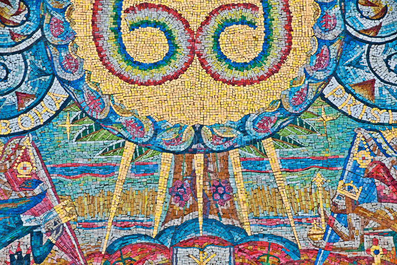 Mosaïque des pierres colorées image libre de droits