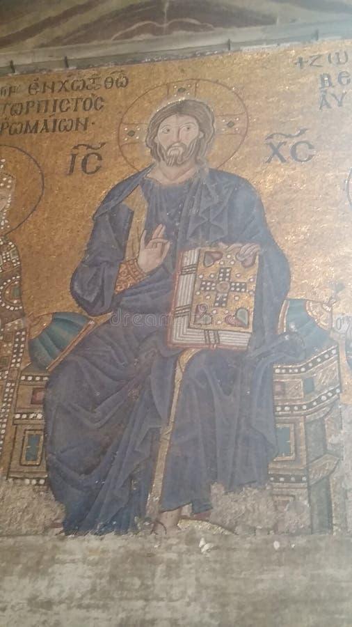 Mosaïque du Christ images stock