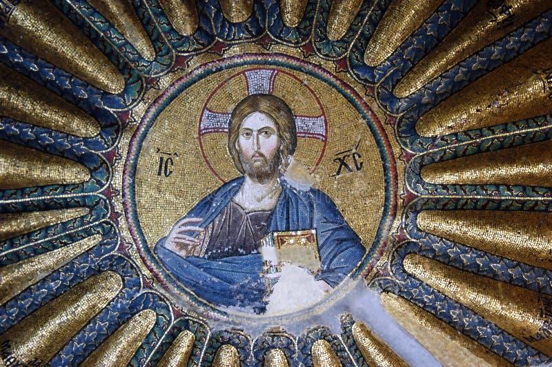 mosaïque du Christ Jésus photographie stock