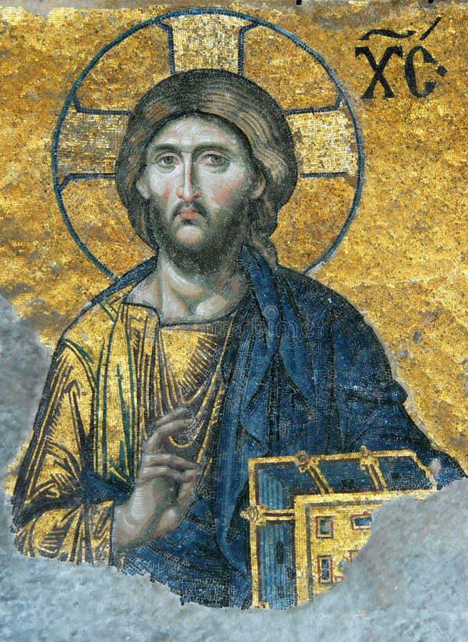 mosaïque du Christ Jésus photo stock