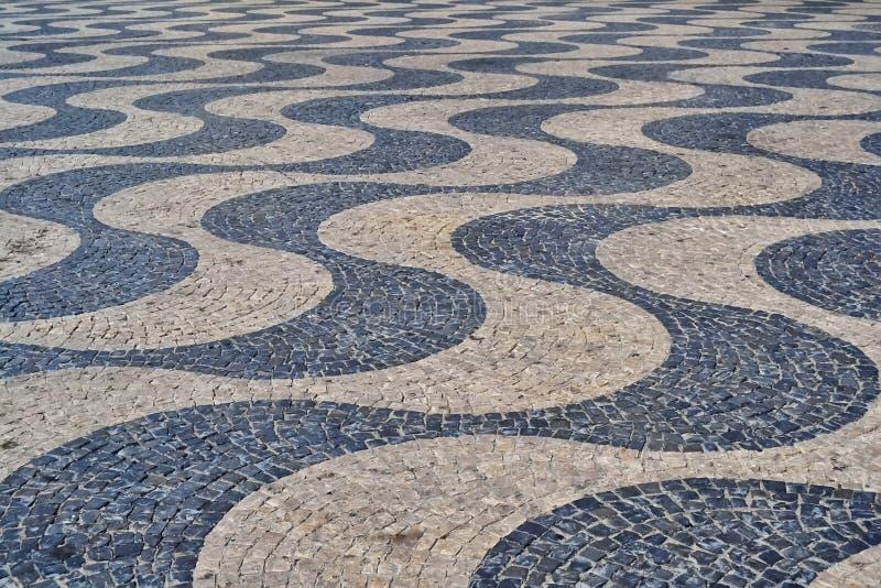 Mosaïque en pierre de galet photographie stock libre de droits