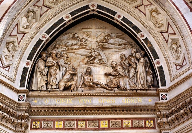Mosaïque Florence de résurrection de Santa Croce de basilique photo libre de droits