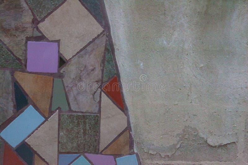 Mosaïque lumineuse de tuile avec Gray Cement Area photos stock