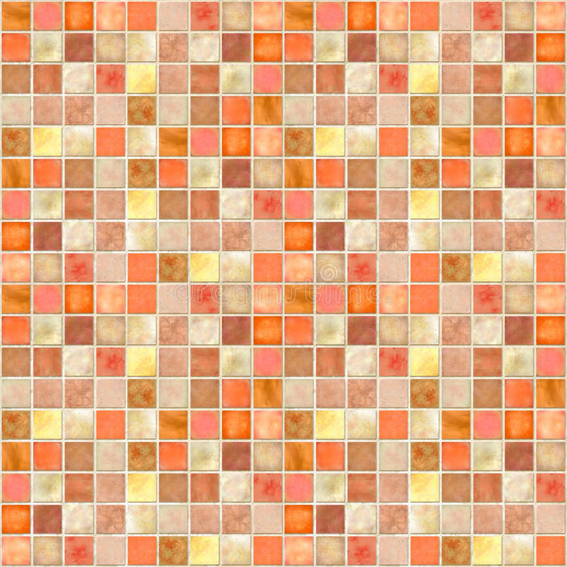 Mosaïque orange de tuile image stock