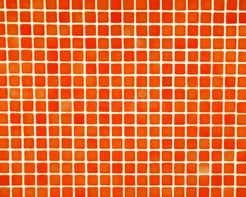 Mosaïque orange rouge images libres de droits
