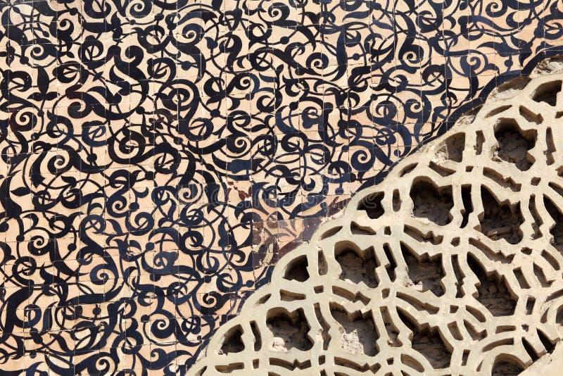 Mosaïque orientale au Maroc photos stock