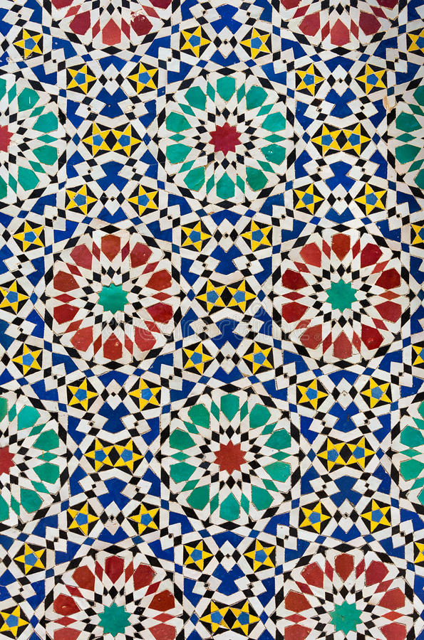 Mosaïque orientale colorée image libre de droits