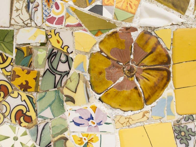 Mosaïque par Gaudi photos libres de droits