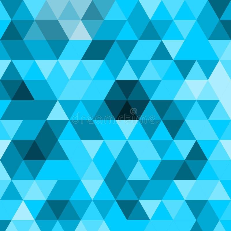Mosaïque polygonale abstraite géométrique impressionnante De triangle poly fond abstrait bas illustration stock