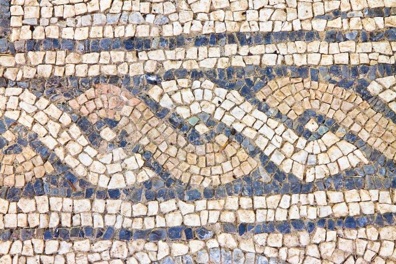 Mosaïque romaine italienne avec l'Italie graphique circulaire photos stock