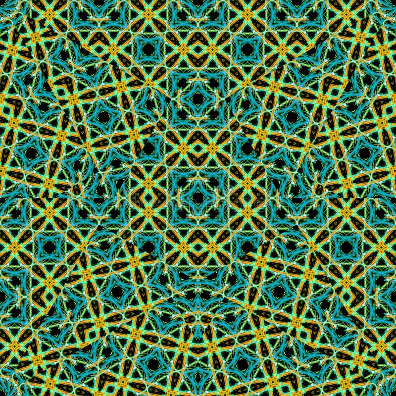 Mosaïque sans couture de modèle d'arabesque images stock