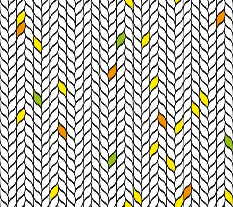 Mosaïque sans couture des feuilles illustration libre de droits