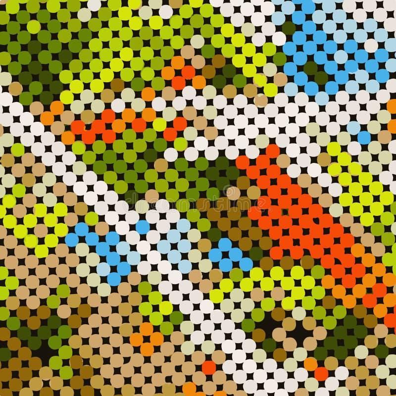 mosaïque scénique illustration de vecteur