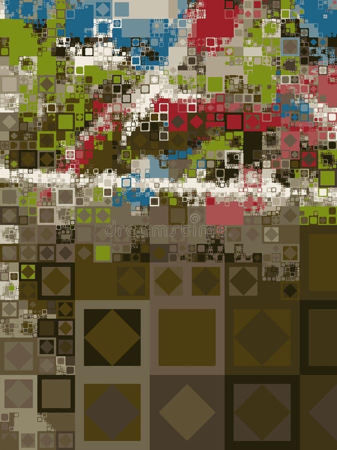 mosaïque scénique illustration stock