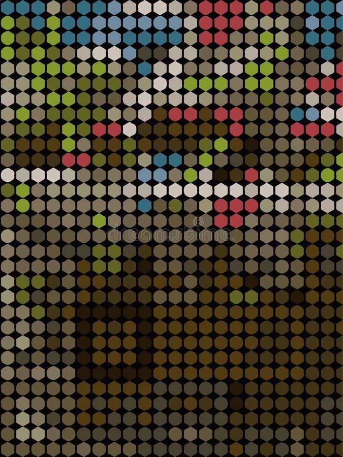 mosaïque scénique illustration libre de droits