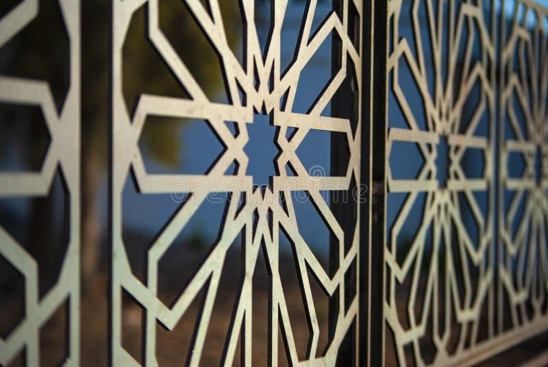 Mosaïque traditionnelle de Morrocan de modèle architectural d'art image stock