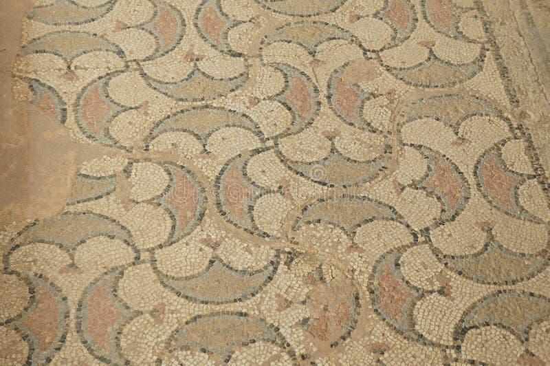 Mosaïques antiques dans le site archéologique de Stobi images stock