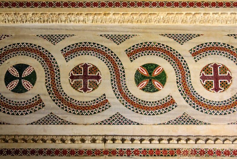 mosaïques de marbre de style arabe - Palerme photos libres de droits