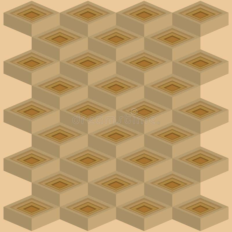 Mosaïques de modèle de cubes deuxièmes photo libre de droits