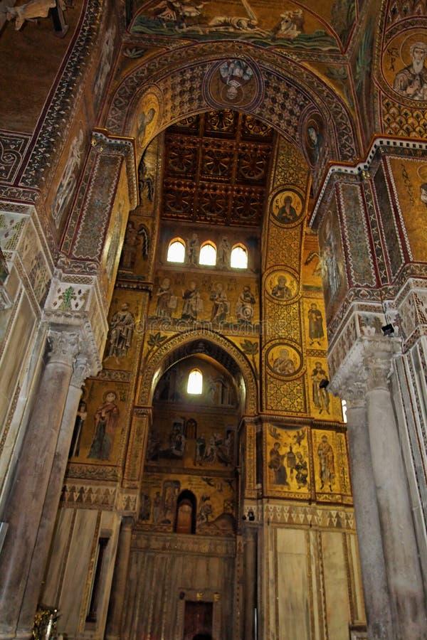 mosaïques Sicile de monreale de l'Italie d'église photo libre de droits