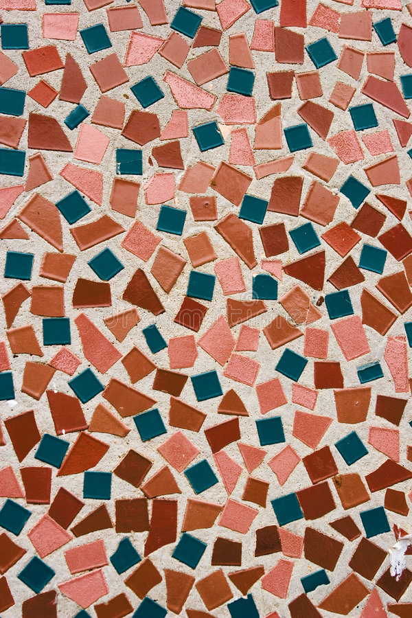 Mosaic 2. Close-up of colorful abstract ceramic mosaic stock photo