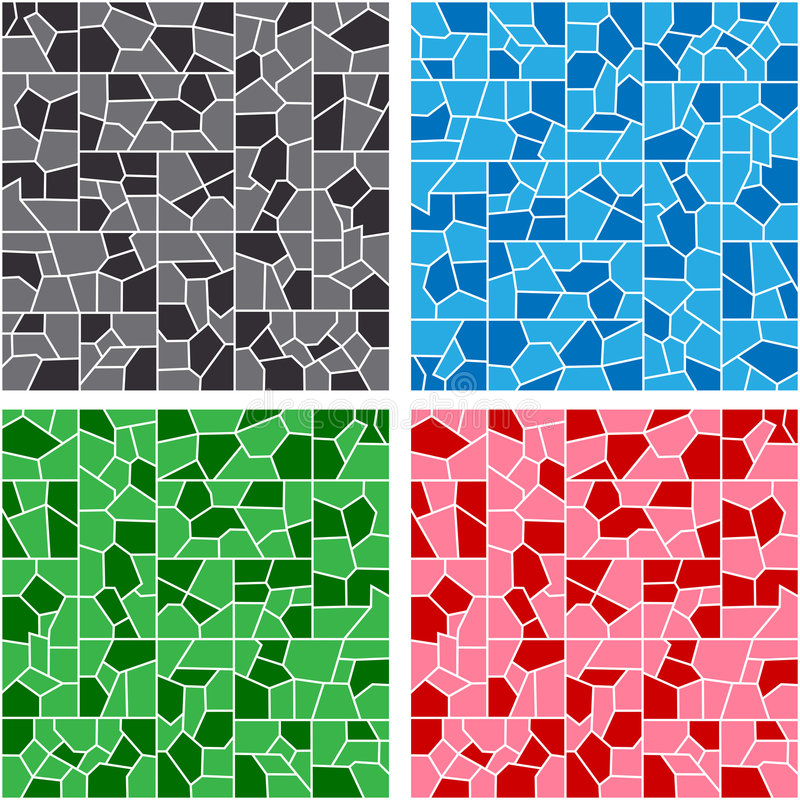 Mosaic. Colorful mosaic in hues of black, blue, red and green vector illustration