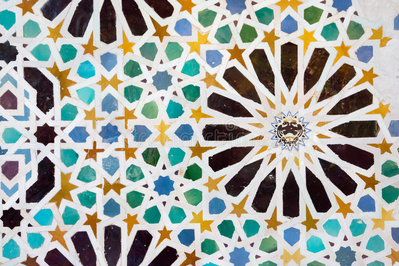 Mosaic in the Alhambra, Granada stock images