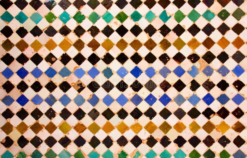 Mosaic at the Alhambra, Granada, Spain stock photography