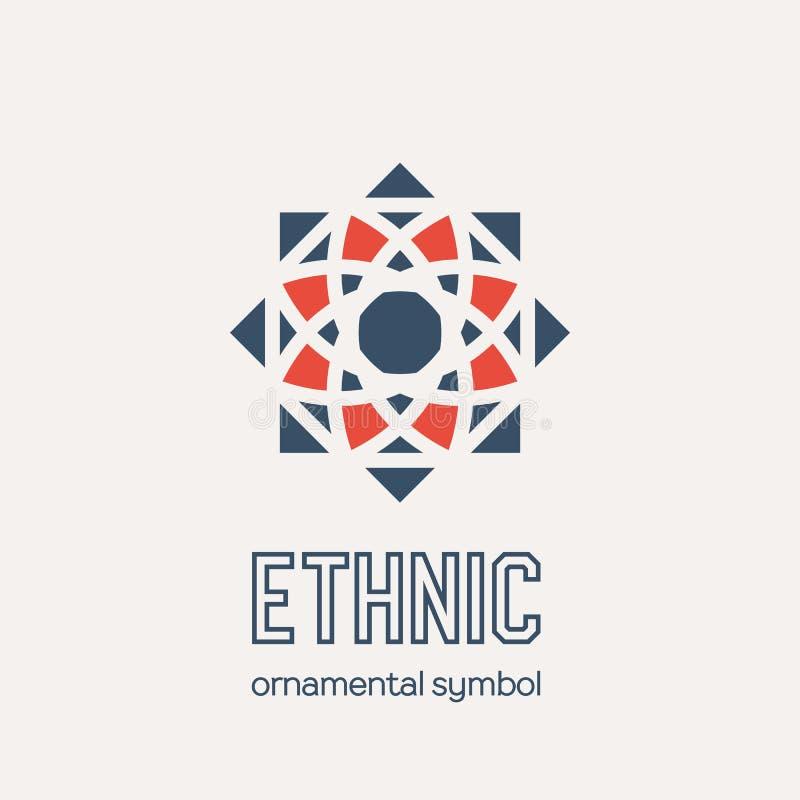 Vector Mosaic Ethnic Emblem stock images