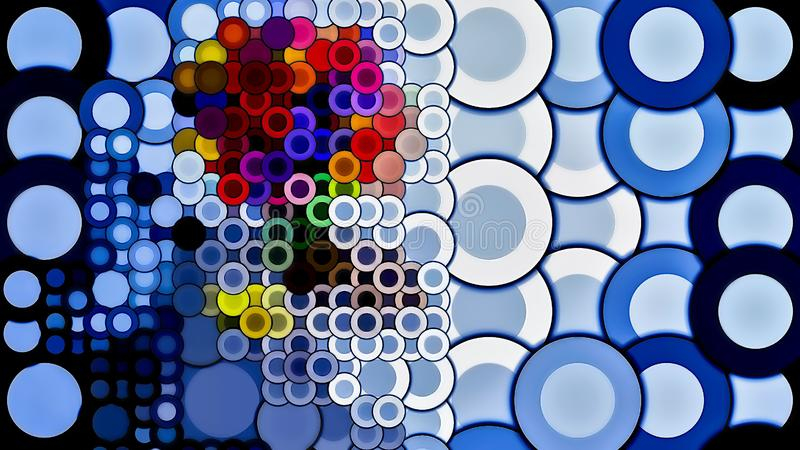 Circular mosaic art graphical  illustration royalty free stock photography