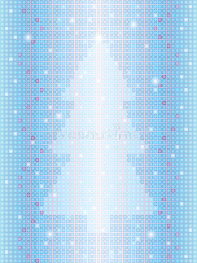 Mosaic background with Christmas tree