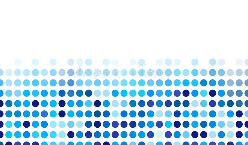 Mosaic background random dark and light blue circles, vector pattern of polka dots, neutral versatile pattern for business techno. Style design. Decoration of vector illustration
