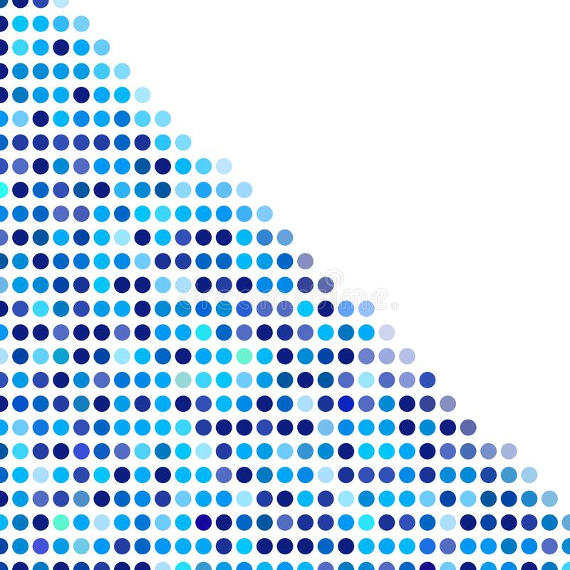 Mosaic background random dark and light blue circles, vector pattern of polka dots, neutral versatile pattern for business techno. Style design. Decoration of royalty free illustration