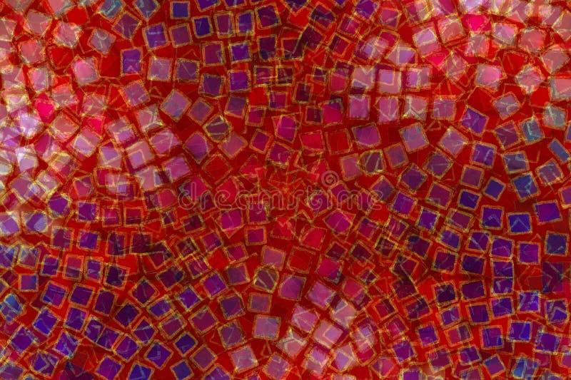 Mosaic Background Square Tiles stock illustration