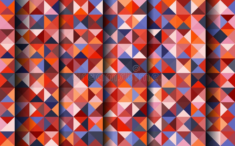 Mosaic background. Vector abstract color mosaic background for design brochure, website, flyer, card. Abstract geometric background with triangles shapes and stock illustration