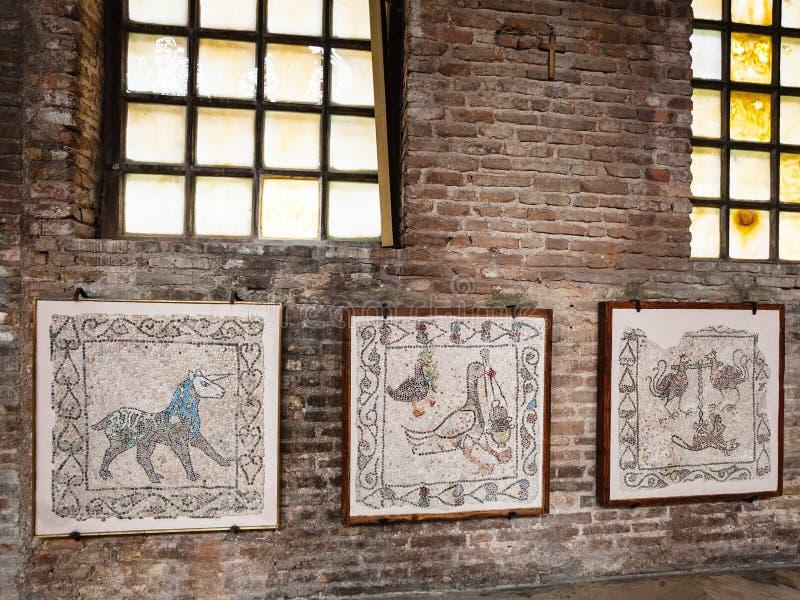 Mosaic in basilica San Giovanni Evangelista stock photography