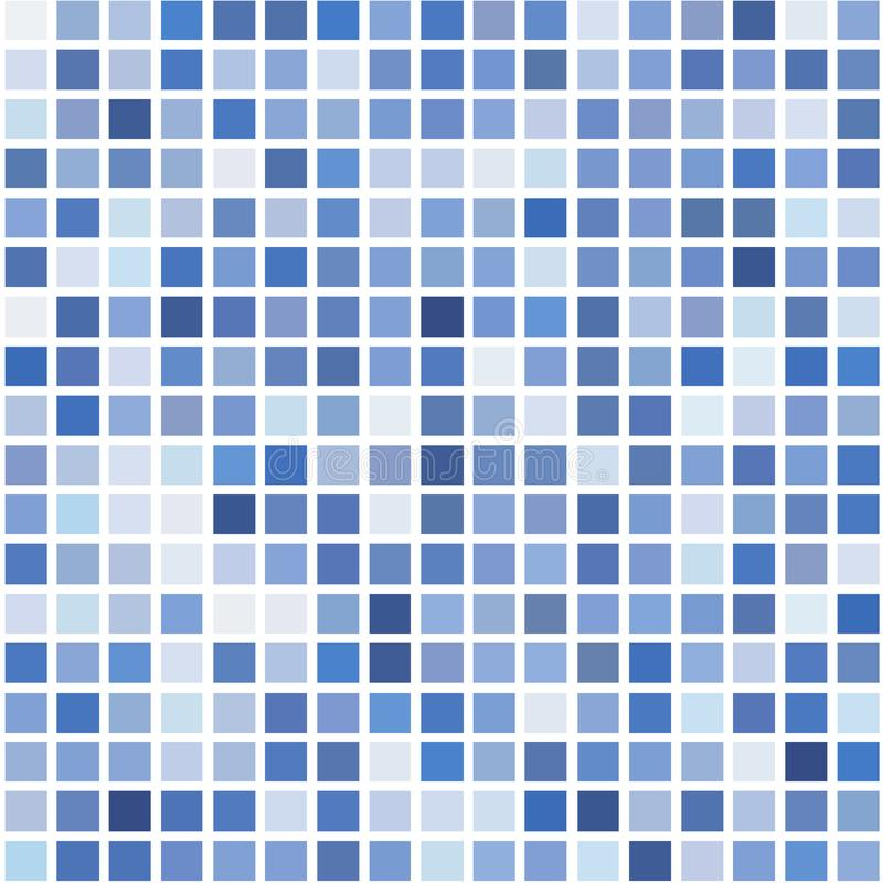 The mosaic of a bright blue squares on a white background. The mosaic of a bright blue squares on a white background for text, banner, poster, label, sticker royalty free illustration