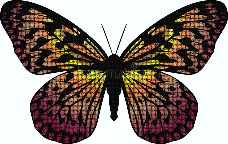 Download Mosaic Butterfly stock illustration. Illustration of colors - 18812004