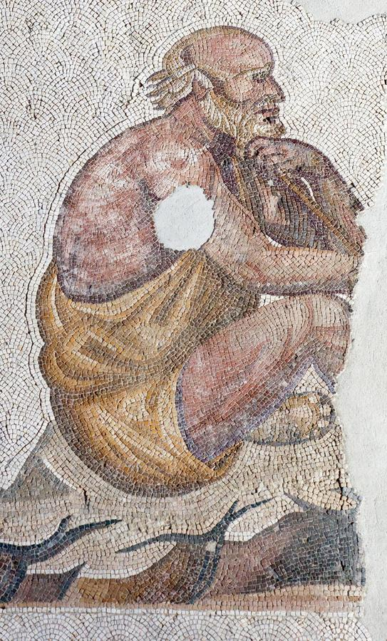 Mosaic from the Byzantine period stock photo