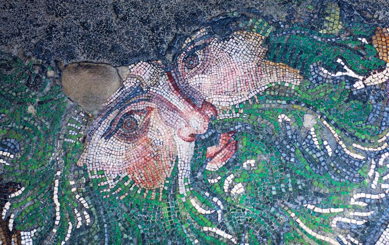 Mosaic from the Byzantine period stock image